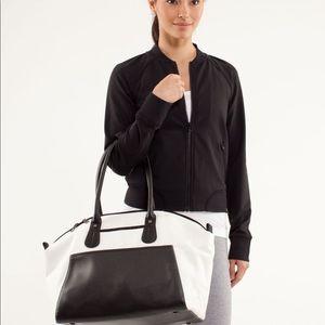 Lululemon Vinyasa To Vino Bag Canvas/Natural/Black
